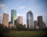 Houston Skyline du centre Photos stock