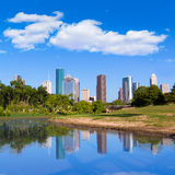 Houston skyline from Memorial park at Texas US Royalty Free Stock Photo
