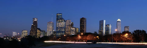Houston Skyline at Night Stock Photography