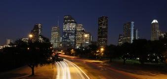 Houston Skyline at Night Stock Photos