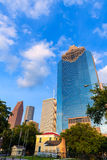 Houston skyline in Sam Houston Park at Texas US Royalty Free Stock Image