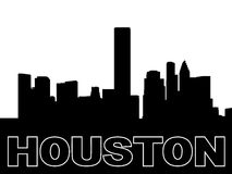 Houston skyline silhouette Royalty Free Stock Photos