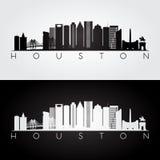 Houston skyline silhouette Royalty Free Stock Photo