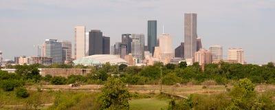 Houston Skyline South Texas Big City Downtown Panoramic Stock Photo