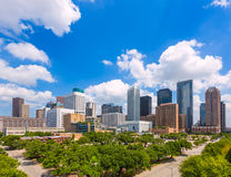 Houston skyline from south in Texas US Royalty Free Stock Images