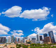 Houston skyline from south in Texas US Royalty Free Stock Photo