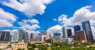 Houston skyline from south in Texas US Royalty Free Stock Photos