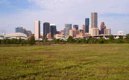 Houston Skyline Southern Texas Big City Downtown Metropolis Stock Photo