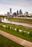 Houston Skyline Southern Texas Big City Downtown Metropolis Path Stock Photos