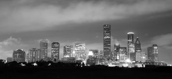 Houston Skyline Southern Texas Big City Downtown Metropolis Stock Photos