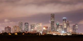 Houston Skyline Southern Texas Big City Downtown Metropolis Stock Image