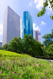 Houston skyline from Tranquility Park in Texas US. USA Royalty Free Stock Photos