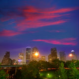 Houston skyline west view sunset Texas US Stock Image
