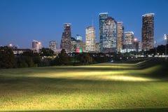 Houston-Skylineblaustunde Stockfoto