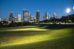 Houston-Skylineblaustunde Stockbild