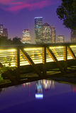 Houston solnedgånghorisont från Texas USA Arkivbilder
