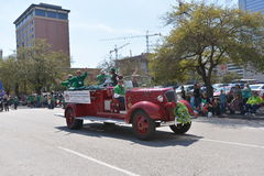 Houston St. Patrick's Parade. The Houston St. Patrick's Parade has always been a FREE event.  The two-hour parade has historically been one of the largest in the Stock Image