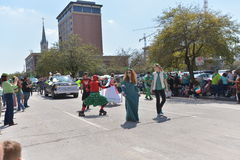 Houston St. Patrick's Parade. The Houston St. Patrick's Parade has always been a FREE event. The two-hour parade has historically been one of the largest in the royalty free stock image