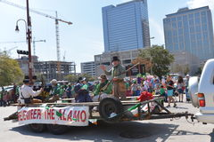 Houston St. Patrick's Parade. The Houston St. Patrick's Parade has always been a FREE event. The two-hour parade has historically been one of the largest in the royalty free stock photos