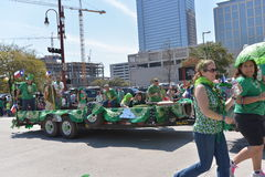 Houston St. Patrick's Parade. The Houston St. Patrick's Parade has always been a FREE event. The two-hour parade has historically been one of the largest in the stock photos