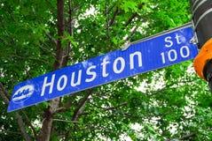 Houston Street Sign - Dallas/Fort Worth Royalty-vrije Stock Fotografie