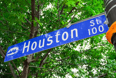 Houston Street Sign - Dallas/Fort Worth Royalty Free Stock Photography