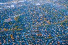 Houston Suburban hus royaltyfri bild