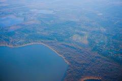 Houston Suburban-meer stock afbeeldingen