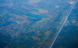 Houston Suburban-meer stock fotografie