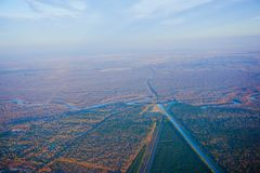 Houston Suburban River royalty-vrije stock foto