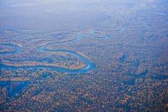 Houston Suburban River royalty-vrije stock foto's