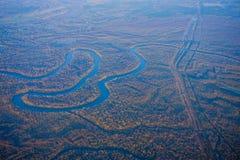 Houston Suburban River royalty-vrije stock afbeelding
