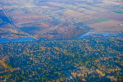 Houston Suburban River royalty-vrije stock afbeeldingen