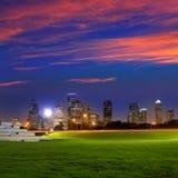 Houston sunset skyline from Texas US Stock Photos