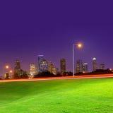 Houston sunset skyline from Texas US Royalty Free Stock Image