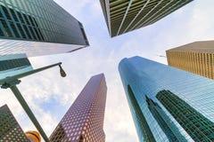Houston, Texas Architecture. Details of the skyline of Houston, Texas, a major business center royalty free stock photos