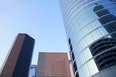 Houston Texas blue buildings skyscraper city Stock Images