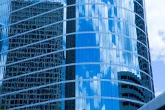 Houston Texas downtown mirror buildings detail. In blue Stock Photo