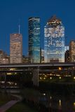 Houston Texas at Dusk Stock Photos