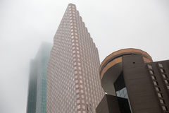 Houston Texas Mid stadhorisont royaltyfri foto