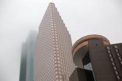 Houston Texas Mid town skyline. Cloudy sky near sunset Royalty Free Stock Photo