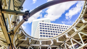 Houston, Texas. Modern downtown Houston, Texas is a vibrant and fast growing business district with amazing architecture stock images