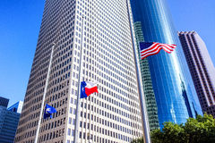 Houston, Texas. Modern downtown Houston, Texas is a vibrant and fast growing business district with amazing architecture Royalty Free Stock Images