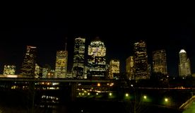 Houston Texas (nacht) Royalty-vrije Stock Fotografie