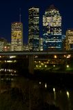 Houston Texas (night) Royalty Free Stock Photo