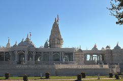 Hindu temple, BAPS Swaminarayan Shri Swaminarayan Mandir in Houston, Texas royalty free stock image
