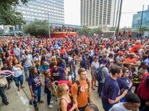 HOUSTON TEXAS - NOVEMBER 3rd 2017 - världsmästare Houston Astros firar deras seger över LAskojarna Royaltyfria Bilder