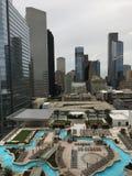Houston Texas skidar linjen från ett motell royaltyfri bild
