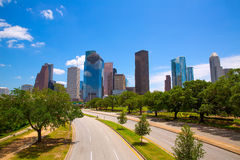 Houston Texas Skyline con skyscapers modernos Imagenes de archivo