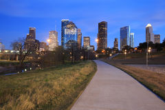 Houston Texas Skyline with modern skyscrapers and blue sky view stock image